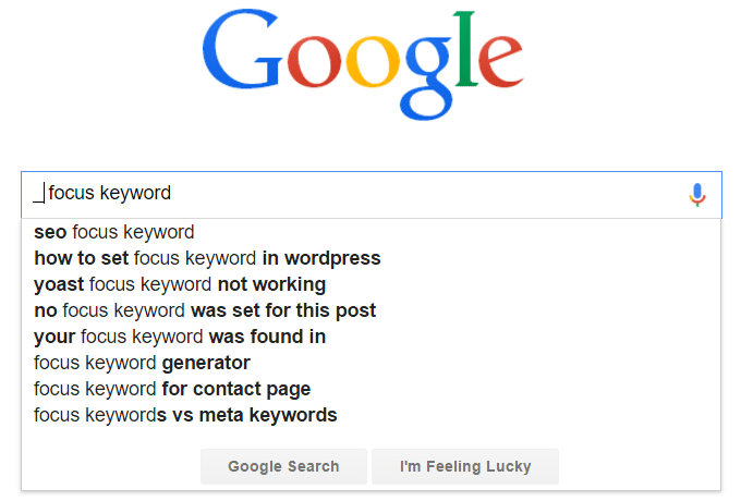 Google Autocomplete search terms