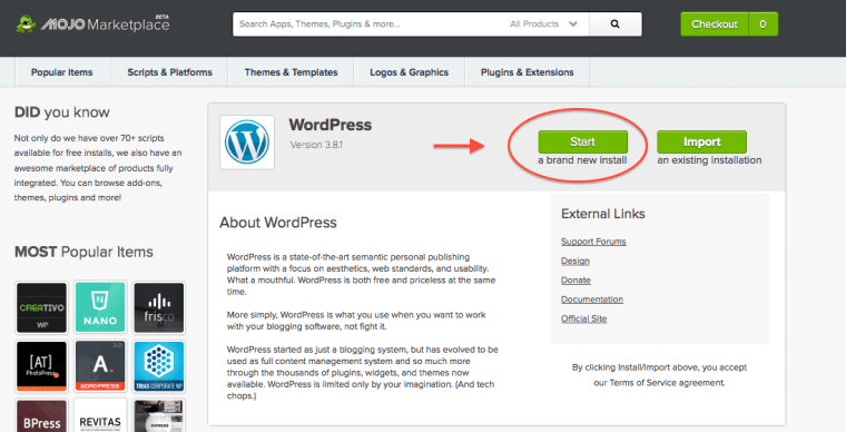 How To Install WordPress In Your Bluehost Account - 10